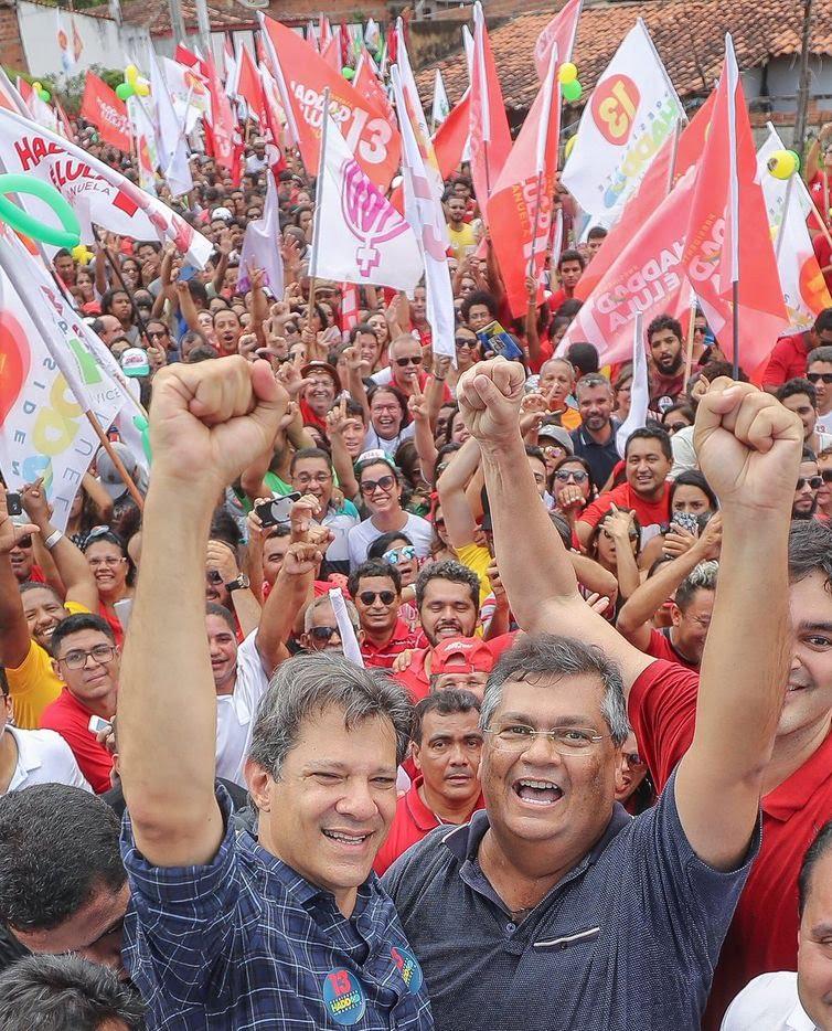 O candidato do PT à Presidência da República, Fernando Haddad,  em São Luís, capital do Maranhão.