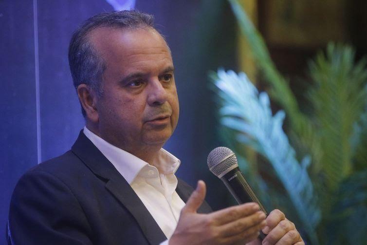 O secretário de Previdência, Rogério Marinho, participa do seminário Brasil de Ideias, em Copacabana.