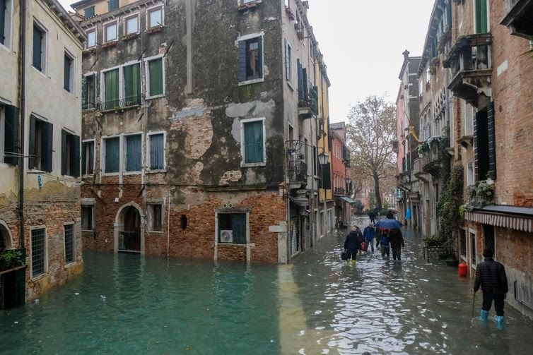 Veneza inundação. REUTERS/Manuel Silvestri