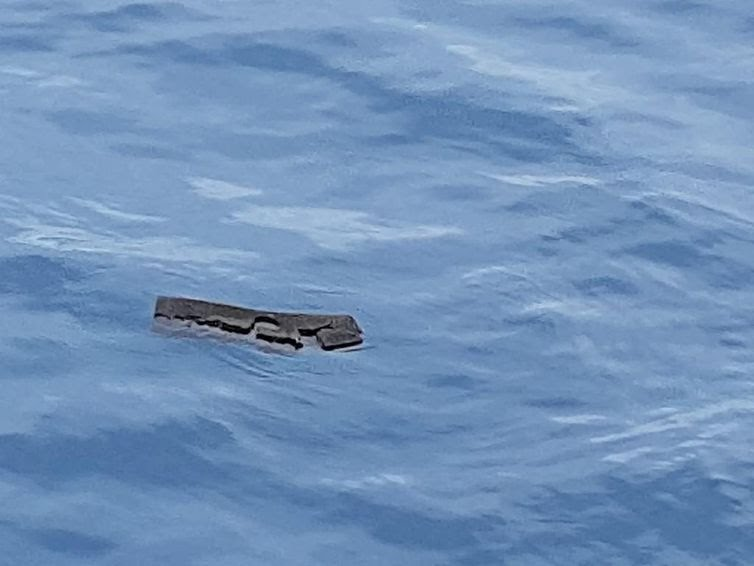 Debris believed by the Chilean Air Force to be from a Hercules C-130 military cargo plane that crashed this week and went missing, is seen in the Drake Passage or Sea of Hoces, Mid-Sea in this undated handout received on December 11, 2019.